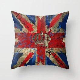 Union Jack & Eureka Flag Throw Pillow