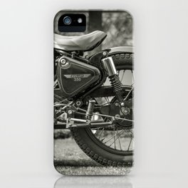 The Vintage Royal Enfield Bullet 350 Motorcycle iPhone Case