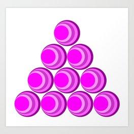 Pink Retro Bubbles Art Print