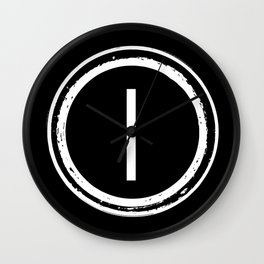 Letter I Monogram Wall Clock