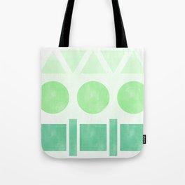 Green Shapes Tote Bag