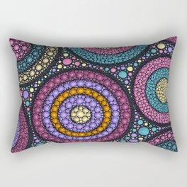 Dot Art Circles Pastels Rectangular Pillow