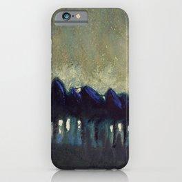 'The Blue Forest' alpine landscape painting by Mikalojus Konstantinas Ciurlionis iPhone Case