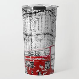 St Paul's Cathedral London Snow Travel Mug