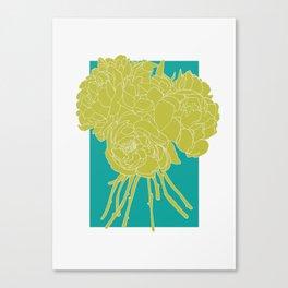 Floral Greens Canvas Print