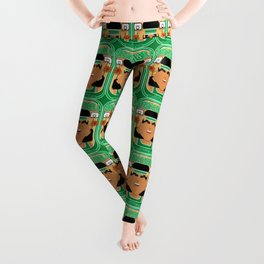 Basketball Green - Alleyoop Buzzerbeater - Indie version Leggings