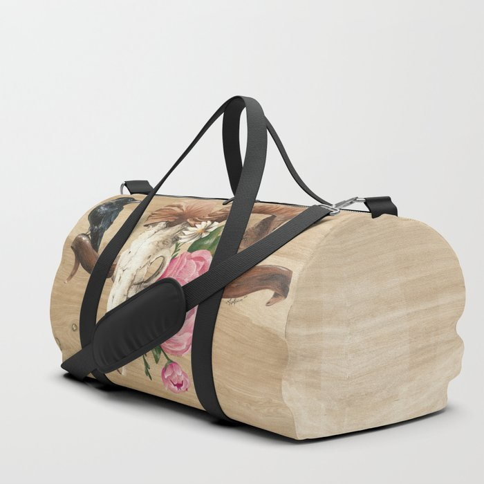 Aries And The Raven Duffle Bag