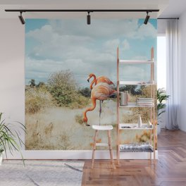 Flamingo Couple #digitalart #wildlife Wall Mural