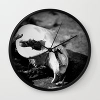 beaver Wall Clocks featuring Beaver Remains by Ariana Buck