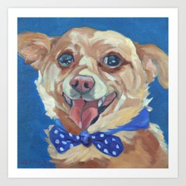The Chihuahua A Day at Play Art Print