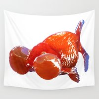goldfish Wall Tapestries featuring Goldfish by Regan's World