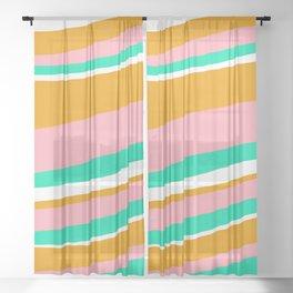 malibu, 1980 Sheer Curtain