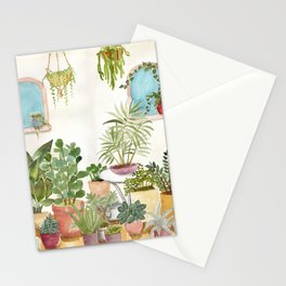 plant lady Stationery Cards