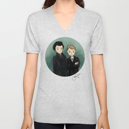 Sherlock & Watson Unisex V-Neck
