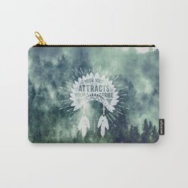 Your Vibe Attracts Your Tribe - Green Forest Fog Carry-All Pouch