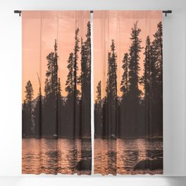 Forest Island at the Lake - Nature Photography Blackout Curtain