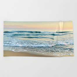 Serenity sea. Vintage. Square format Beach Towel