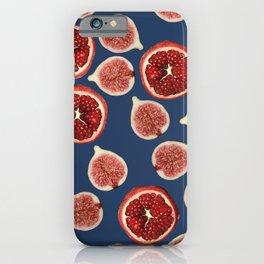 Figs - Pomegranate - blue iPhone Case