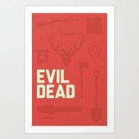 evil dead Art Prints featuring Evil Dead by ModPress
