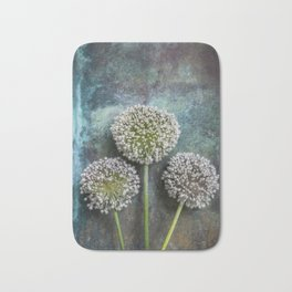 Three Allium Flowers Bath Mat