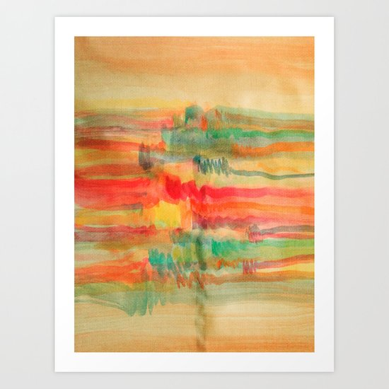 Watercolor/Abstract 2 Art Print