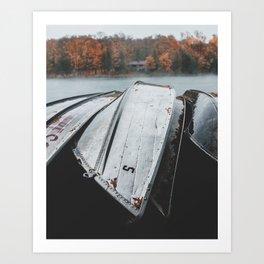 Rustic Boats Art Print