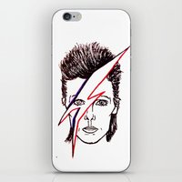 aladdin iPhone & iPod Skins featuring Bowie Aladdin by Diego L.D.