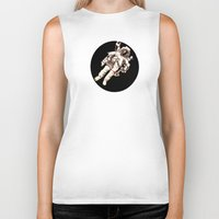 astronaut Biker Tanks featuring Astronaut by Kristin Frenzel