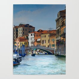 Venice Italy Canal Houses Poster