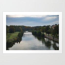 Canal du Midi, Carcassonne, France Art Print