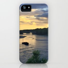 Sunset Sailing on the Loire iPhone Case