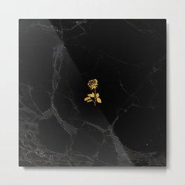 Forever Petal (Black Gold) Metal Print