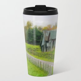 Autumn Barn Travel Mug