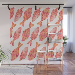 Indonesian Fish Duo – Melon Palette Wall Mural