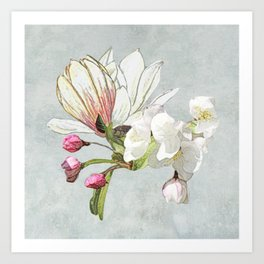 Magic in the air - blossoming Art Print