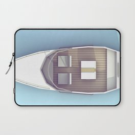 Low Poly Speed Boat Laptop Sleeve