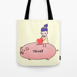 Piggy Bank of Trust Tote Bag
