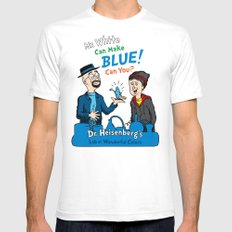 Mr. White Can Make Blue! MEDIUM Mens Fitted Tee White