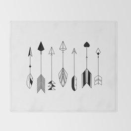 Be Brave Little Arrow Throw Blanket