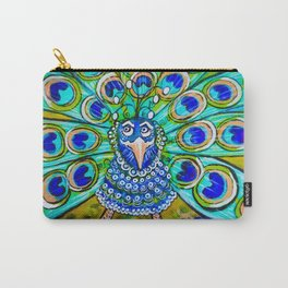 Jo Jo's Peacock Carry-All Pouch