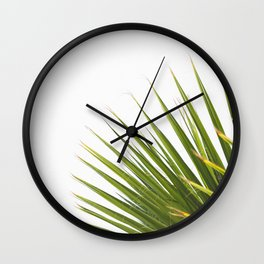 Tropical Palm Green Plant Leaf Minimalist Modern Photo Wall Clock