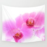 orchid Wall Tapestries featuring Orchid  by privilegedproblem
