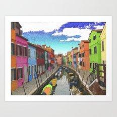 Village colors Art Print