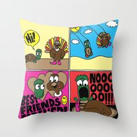 thanksgiving Throw Pillows featuring Thanksgiving by Chris Piascik