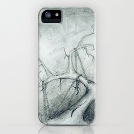 Tree Crippled by Chains iPhone Case