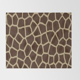 primitive safari animal brown and tan giraffe spots Throw Blanket