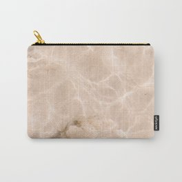 Coral Clear water | beach fine art photography | sea wave and sand Carry-All Pouch