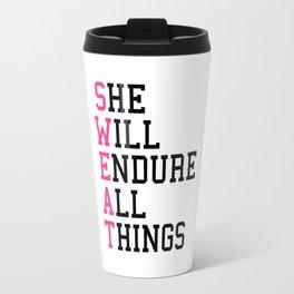 S.W.E.A.T Gym Quote Travel Mug