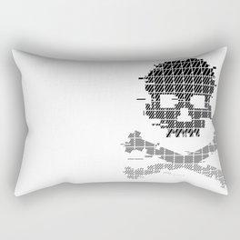 Glitch Crossbones Rectangular Pillow