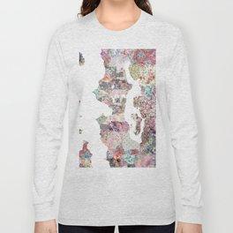 Seattle map Long Sleeve T-shirt